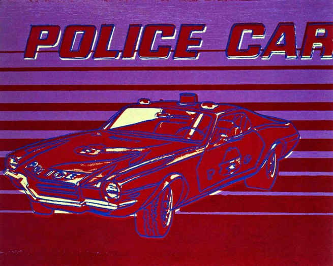 Andy Warhol. 'Police Car' 1983
