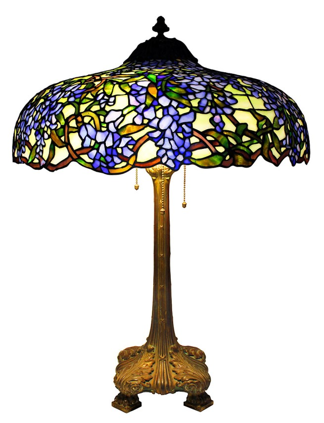 The Duffner & Kimberly Company. 'Lamp with Wisteria Motif' Early 20th century. Collection of Dr. Byron Vreeland. Photo courtesy Christopher Martin