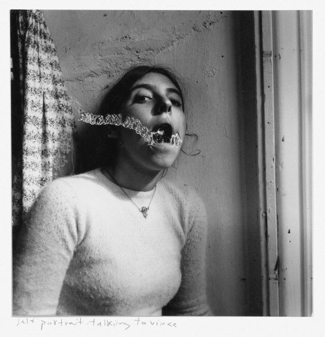 Francesca Woodman. 'Self-Portrait talking to Vince' 1975-78