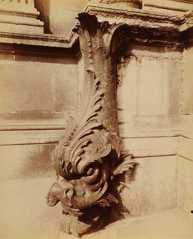Eugène Atget(French, 1857-1927) 'Gargouille, cour du Louvre' 1902