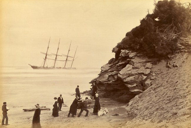 Fred Kruger. 'Wreck of the ship George Roper, Point Lonsdale' 1883