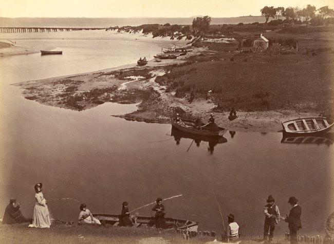 Fred Kruger. 'Coast scene, Mordialloc Creek, near Cheltenham' c. 1871