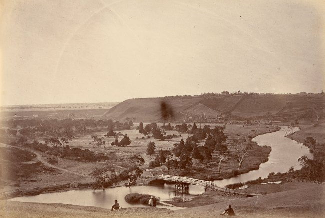 Fred Kruger. 'View on Barwon River, Queen's Park, Geelong' c. 1880