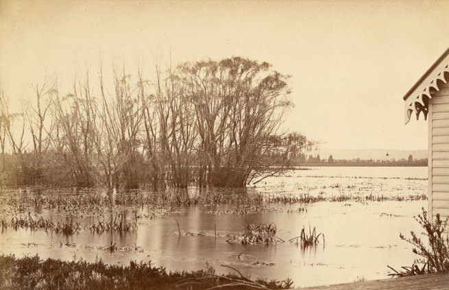 Fred Kruger. 'Winter scene, Lake Wendouree, from Botanic Gardens, Ballarat' c. 1866-88