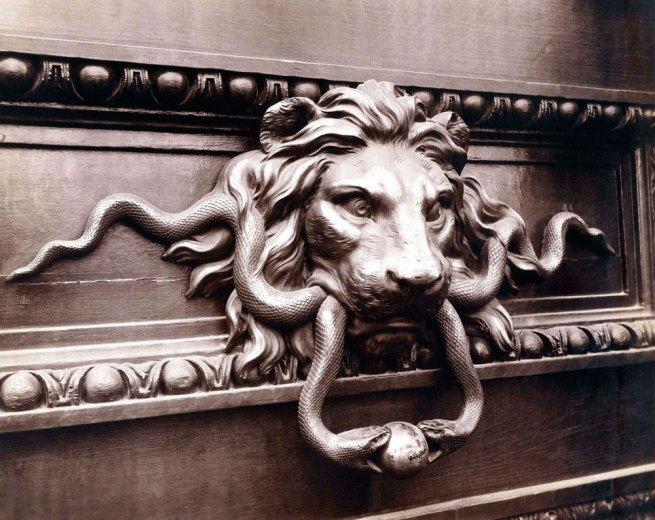 Eugène Atget(French, 1857-1927) 'Heurtoir à tête de lion, hôtel de laMonnaie, quai Conti, 6earrondissement' September 1900