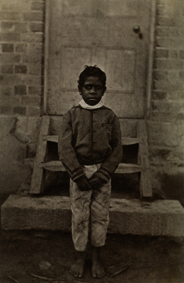 Fred Kruger. 'David Barak at Coranderrk Aboriginal Station' c. 1876