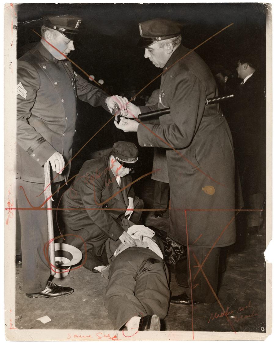 Weegee. 'Hold up man killed' November 24, 1941