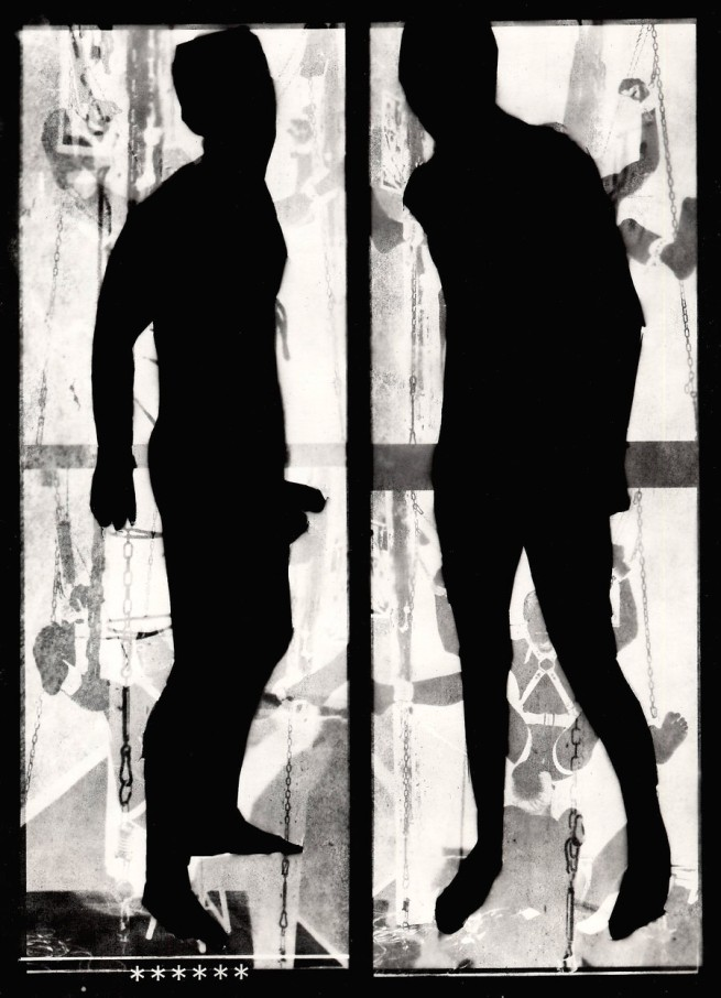 Mark Morrisroe (American, 1959 - 1989) 'Untitled [Two Men in Silhouette]' c. 1987