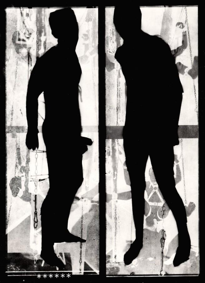 Mark Morrisroe (American, 1959 - 1989) 'Untitled [Two Men in Silhouette]' c. 1987