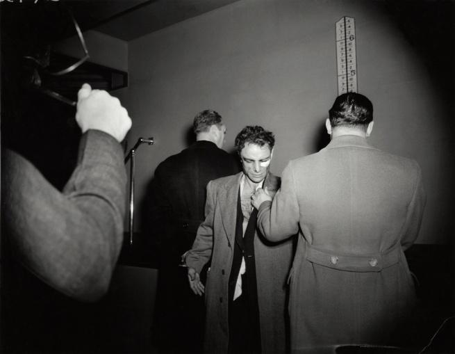 Weegee. 'Untitled [Anthony Esposito, booked on suspicion of killing a policeman, New York]' January 16, 1941