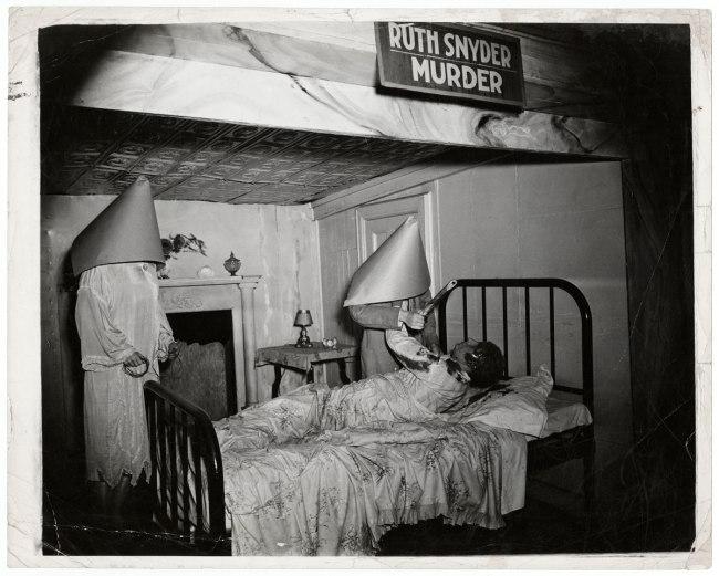 """Weegee. 'Untitled [""""Ruth Snyder Murder"""" wax display, Eden Musée, Coney Island, New York]' ca. 1941"""