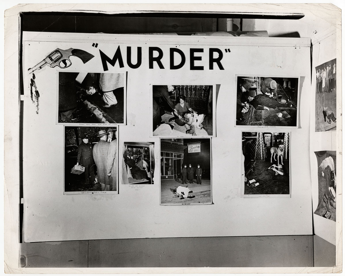 Weegee. 'Untitled [Installation view of