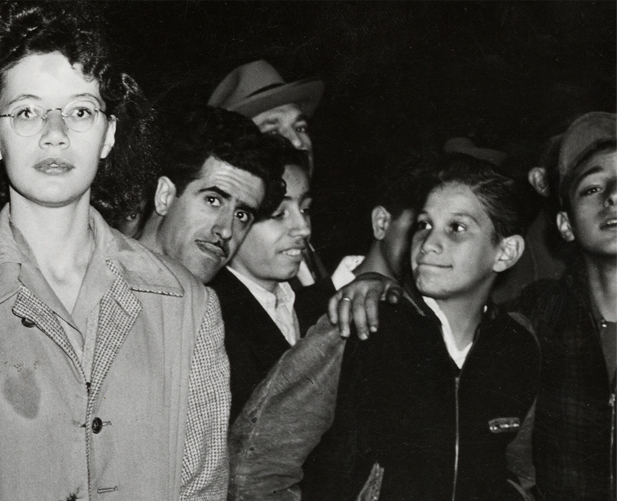 Weegee. 'At an East Side Murder' 1943 (detail)