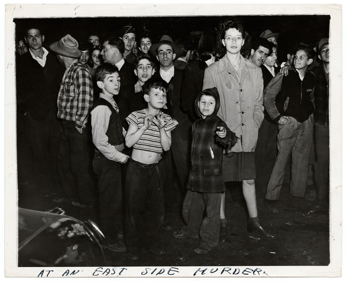 Weegee. 'At an East Side Murder' 1943