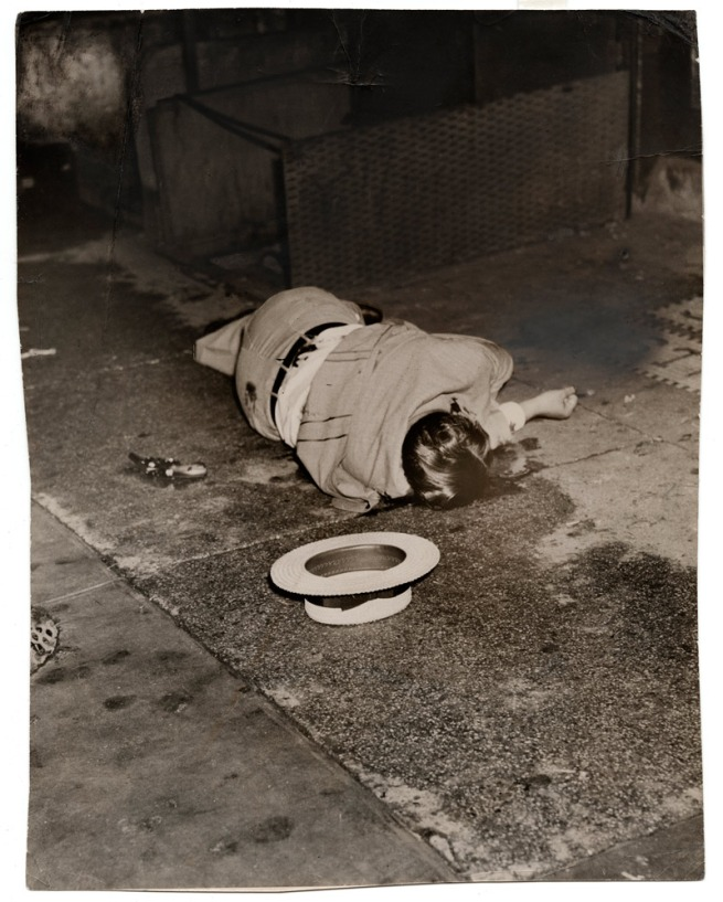 Weegee. 'Untitled [Body of Dominick Didato, Elizabeth Street, New York]' August 7, 1936