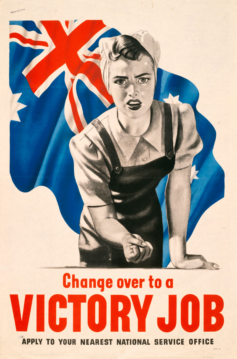 Change Over to a Victory Job propaganda poster