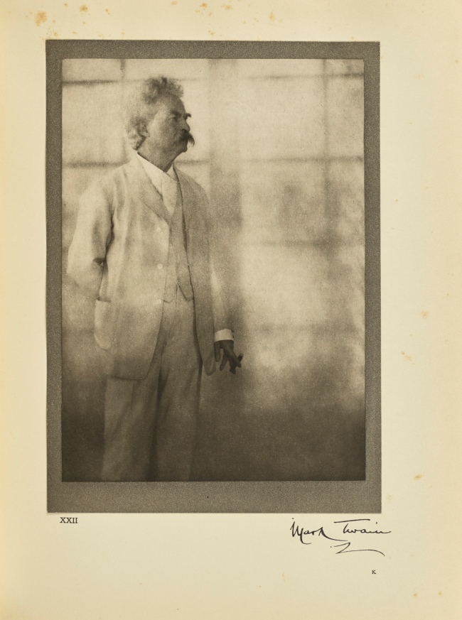 Alvin Langdon Coburn (British, born United States, 1882-1966) 'Mark Twain (Samuel Langhorne Clemens)' Negative December 21, 1908; print 1913