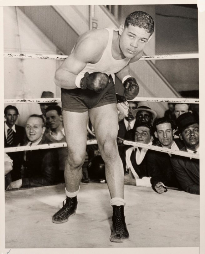 "Coy Watson Jr. (American, 1912–2009) 'Joe Louis – ""The Brown Bomber"", Los Angeles, February 1935'"