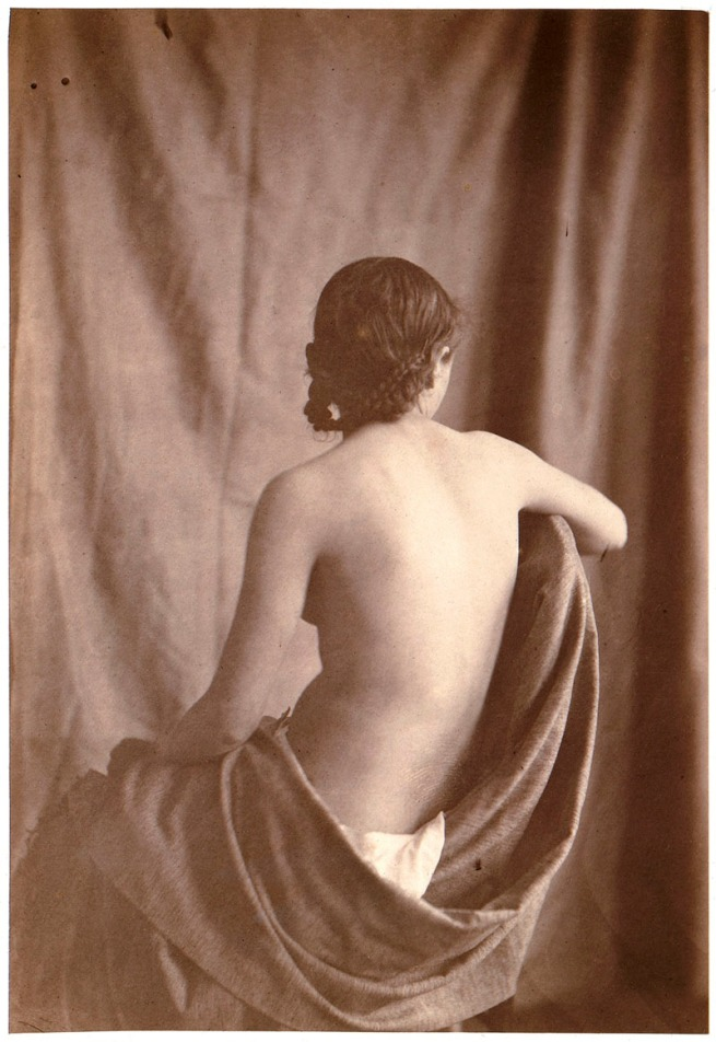 Eugène Durieu (French, 1800-1874) 'Untitled [Seated Female Nude]' 1853-54
