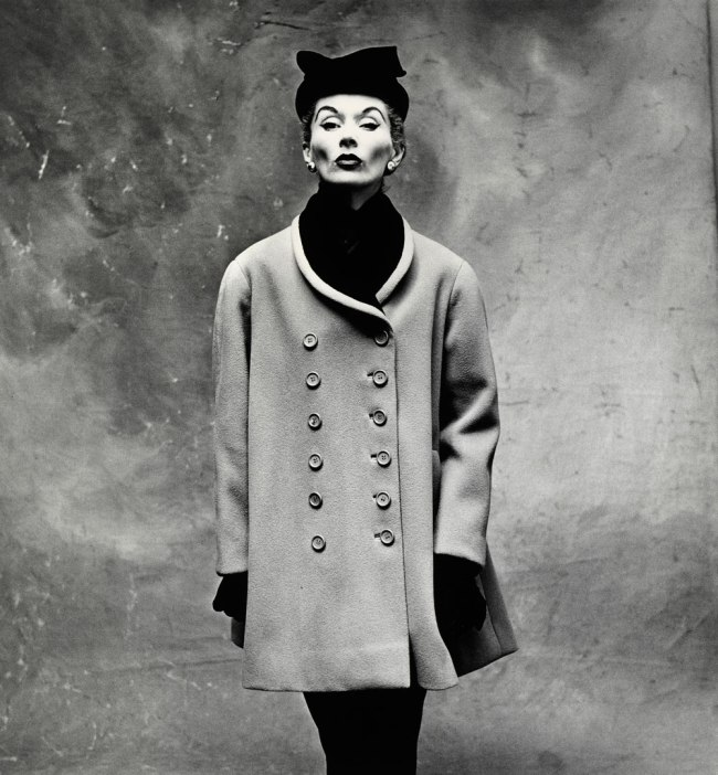 Irving Penn. 'Balenciaga Little Great Coat (Lisa Fonssagrives-Penn), Paris, 1950' 1950