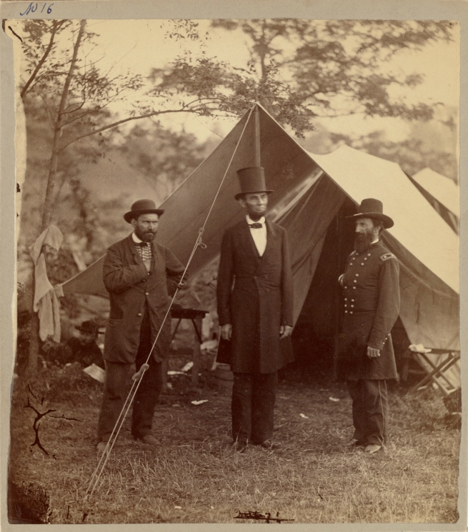 Alexander Gardner (American, born Scotland, 1821-1882) 'President Lincoln, United States Headquarters, Army of the Potomac, near Antietam, October 4, 1862'