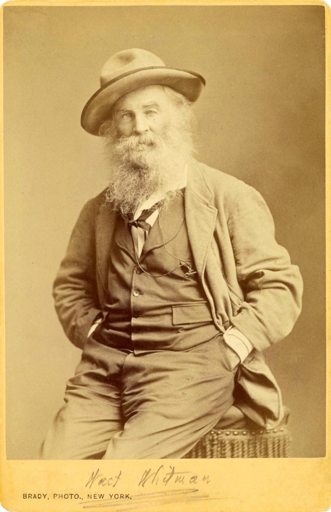 Mathew B. Brady (American, about 1823-1896) 'Walt Whitman' about 1870