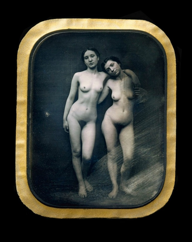 Félix-Jacques-Antoine Moulin (French, 1800 - after 1875) 'Untitled [Two Standing Female Nudes]' c. 1850