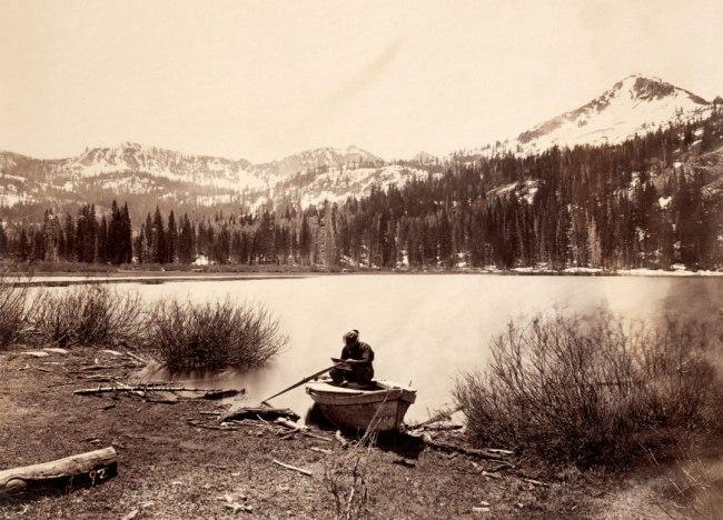 Timothy O'Sullivan (American, 1842-1882) 'Cottonwood Lake, Wasatch Mountains, Utah' 1869