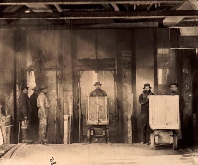 Timothy O'Sullivan, American (1842-1882) 'Shaft of Savage Mine, Virginia City, Nevada' 1868