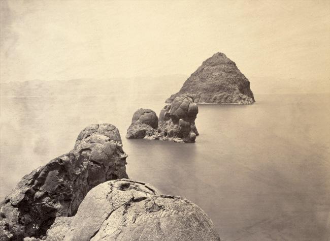Timothy O'Sullivan, American (1842-1882) 'Pyramid and Domes, Pyramid Lake, Nevada' 1867