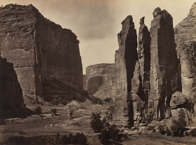 Timothy H. O'Sullivan 'Cañon de Chelle, Walls of the Grand Canon about 1200 feet in height' 1873
