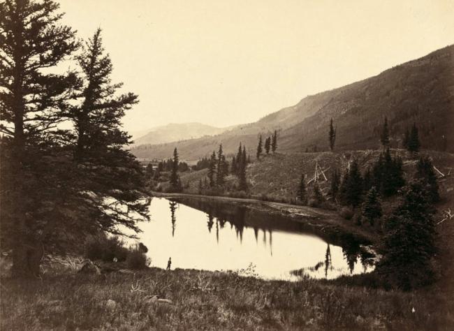Timothy O'Sullivan, American (1842-1882) 'Lake in Conejos Cañon, Colorado' 1874