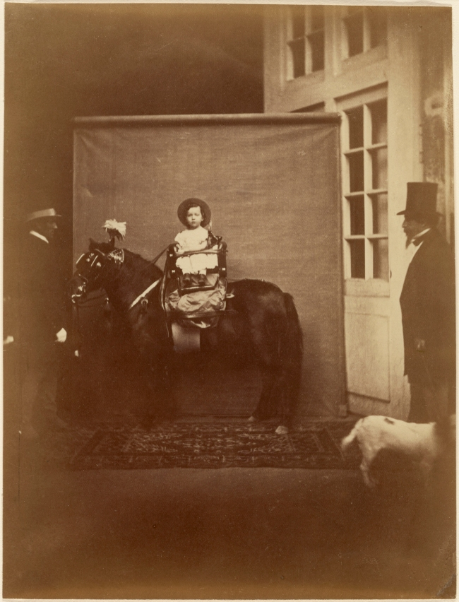 Pierre Louis Pierson (French, 1822-1913) 'Napoleon III and the Prince Imperial' about 1859