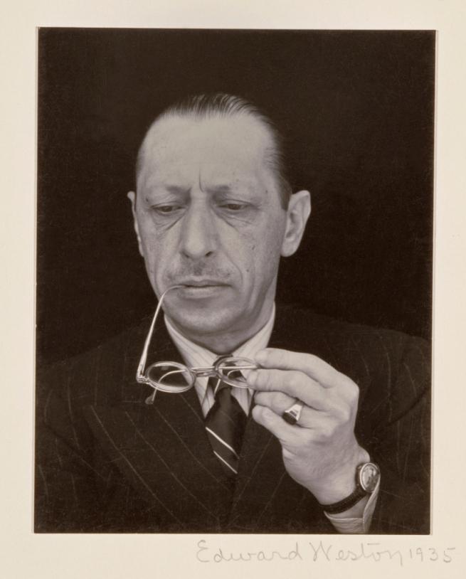 Edward Weston (American, 1889-1958) 'Igor Stravinsky' 1935