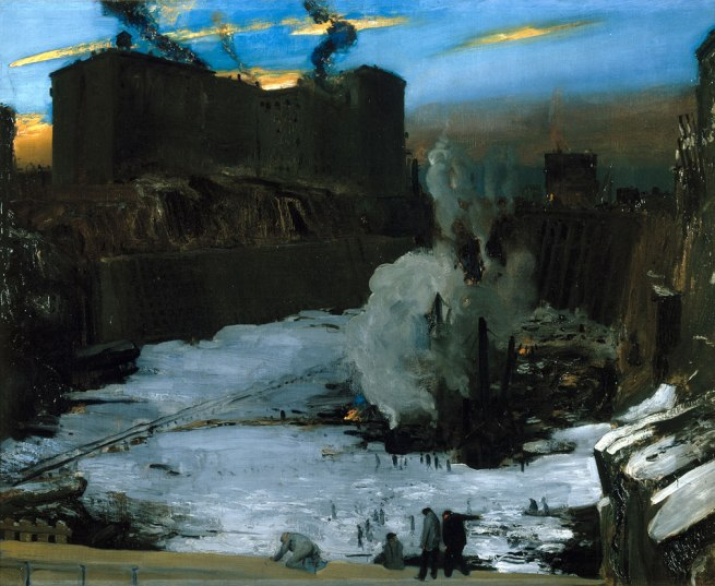 George Bellows. 'Pennsylvania Station Excavation' 1909