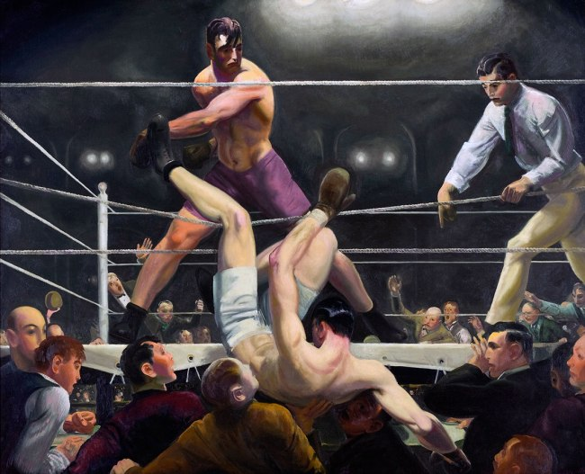 George Bellows. 'Dempsey and Firpo' 1924