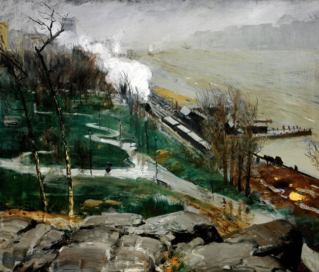 George Bellows. 'Rain on the River' 1908