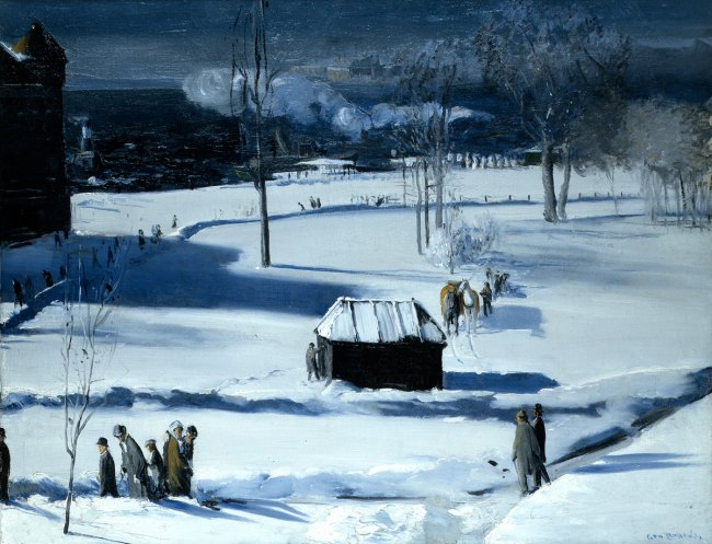 George Bellows. 'Blue Snow, The Battery' 1910