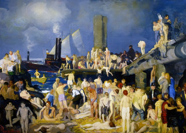 George Bellows. 'Riverfront, No. 1' 1914