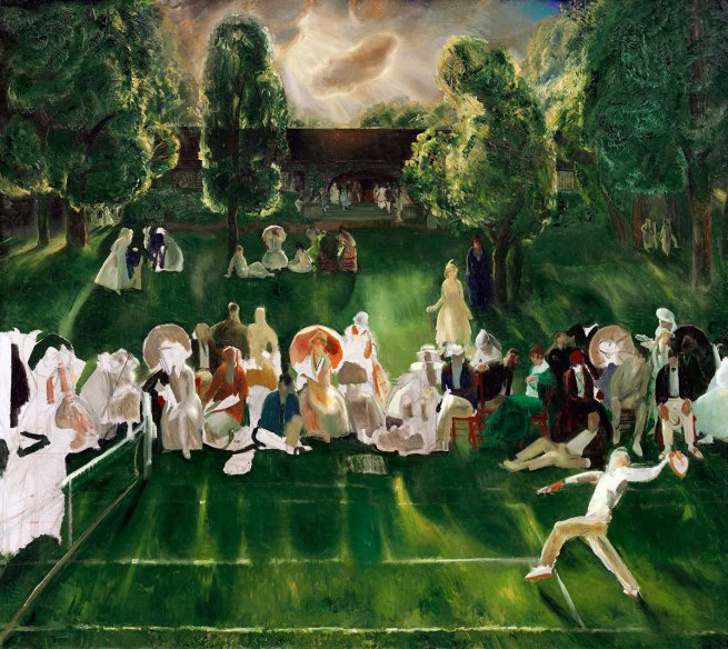 George Bellows. 'Tennis at Newport' 1920