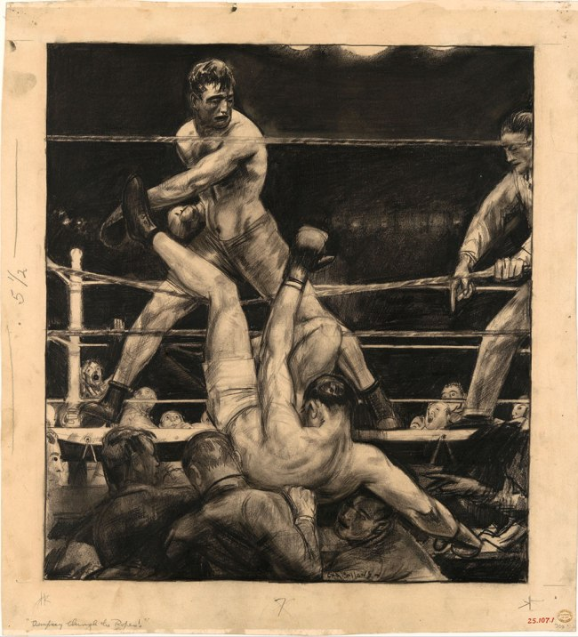 George Bellows. 'Dempsey through the Ropes' 1923