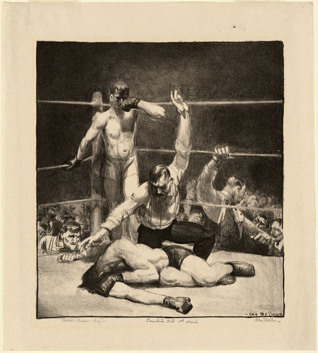 George Bellows. 'Counted Out, No.1' 1921