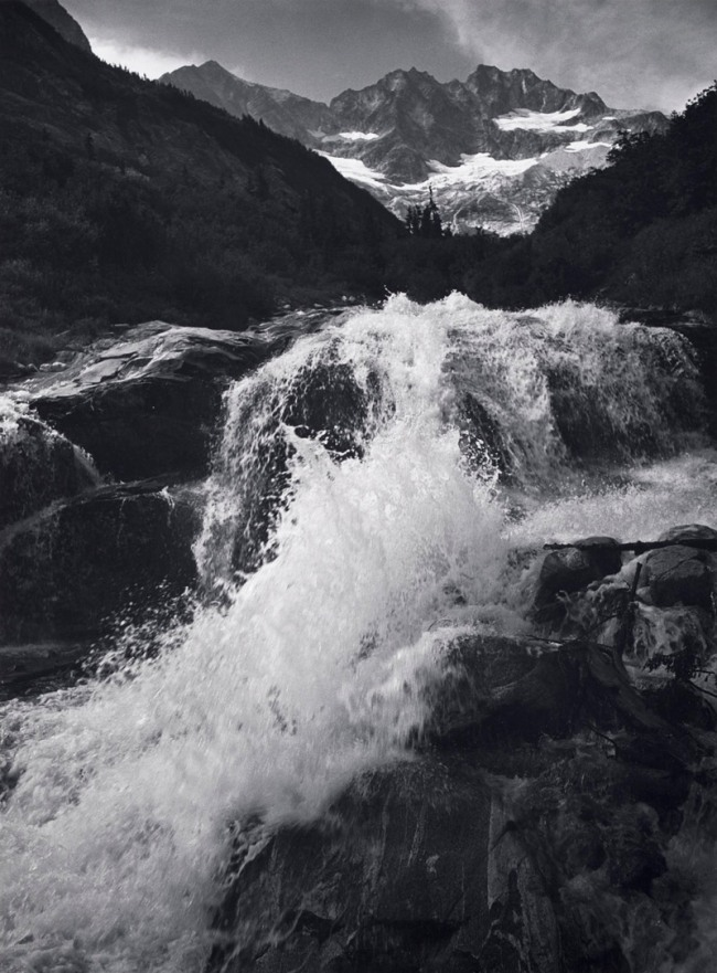 Ansel Adams. 'Waterfall, Northern Cascades, Washington' 1960
