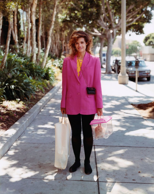 Joel Sternfeld. 'A Woman Out Shopping with Her Pet Rabbit, Santa Monica, California, August 1988' 1988