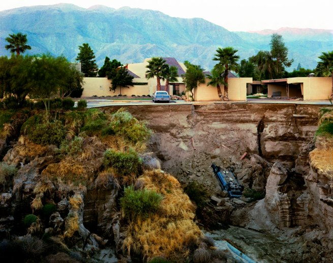 Joel Sternfeld. 'After A Flash Flood, Rancho Mirage, California 1979' 1979