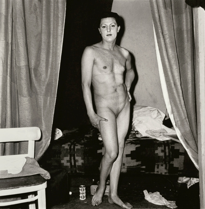 Diane Arbus (American, 1923-1971) 'A naked man being a woman, N.Y.C.' 1968