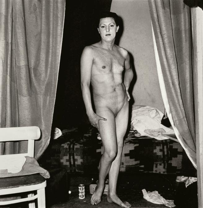 Diane Arbus (American, 1923-1971) 'A naked man being a woman, N.Y.C.' 1968