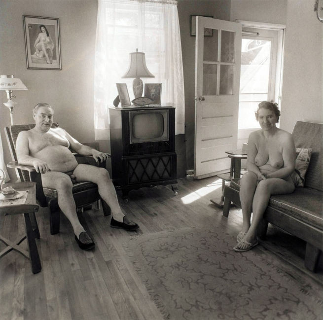 Diane Arbus (American, 1923-1971) 'Retired man and his wife at home in a nudist camp one morning, N.J.' 1963