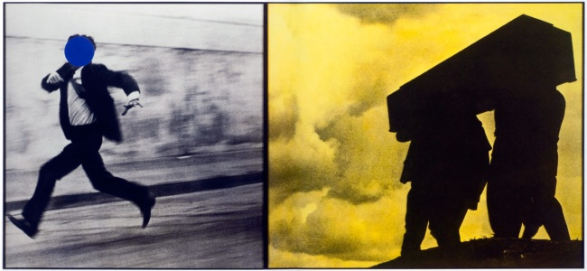 John Baldessari. 'Man Running/Men Carrying Box' 1988-1990