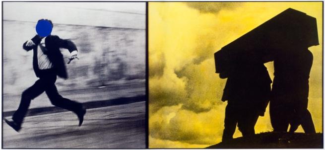 John Baldessari. 'Man Running/Men Carrying Box' 1988-1990
